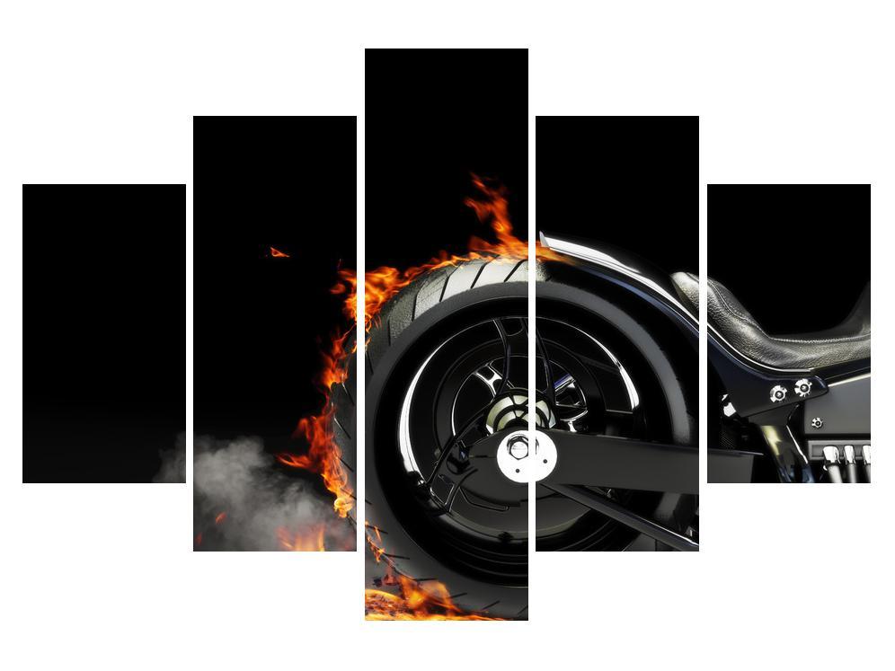 Slika kotača u plamenu (K011990K150105)