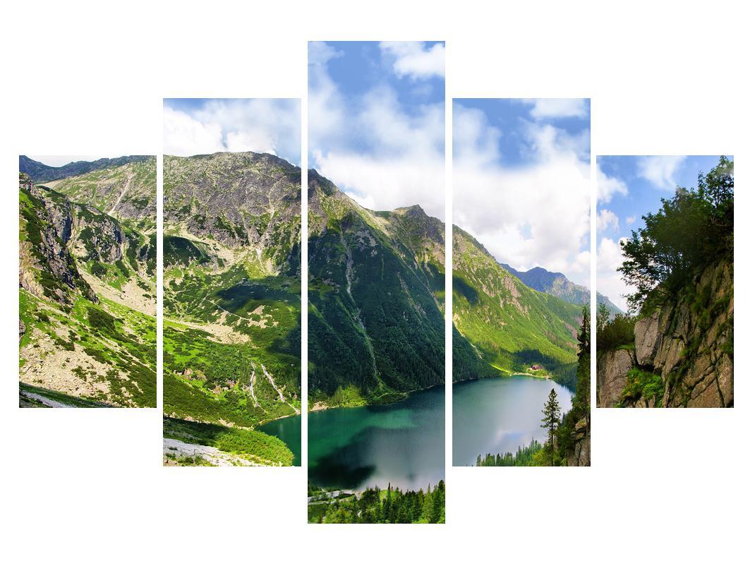 Slika planinskog krajolika s jezerom (K012029K150105)