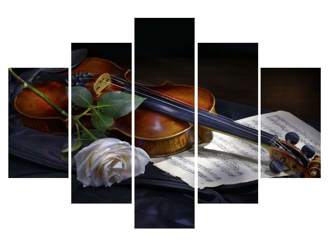 Slika vrtnice in vijoline (K012349K150105)