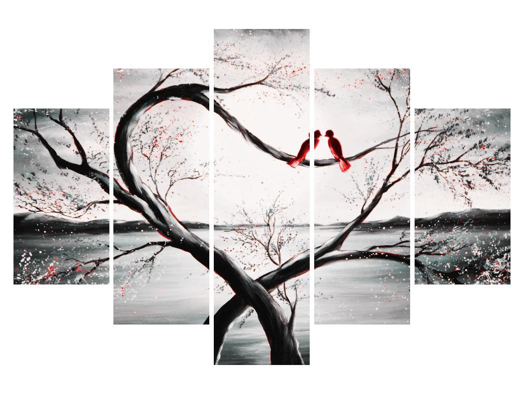 Slika zalljubljenih ptica (K012527K150105)