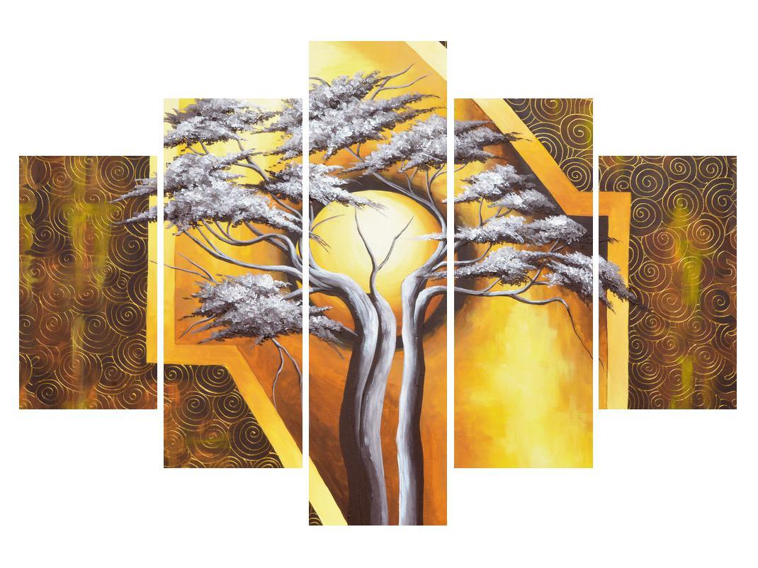 Orientální obraz stromu a slunce (K014067K150105)