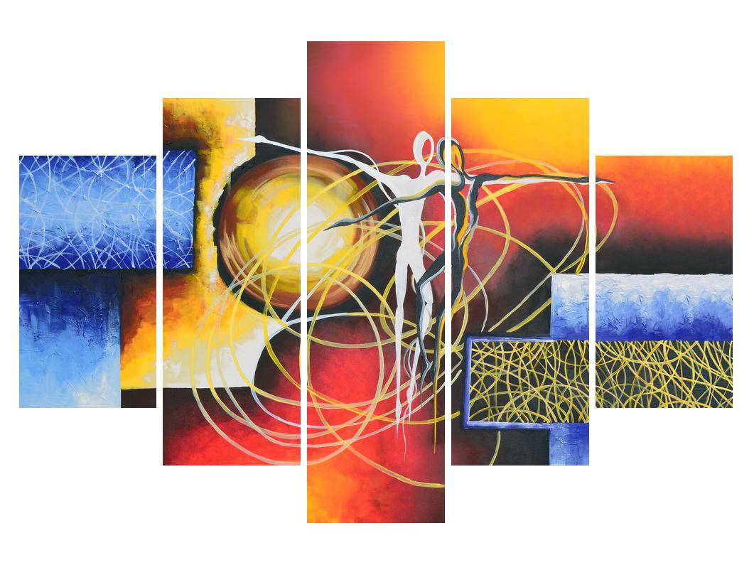 Abstraktní obraz tanečníků (K014151K150105)