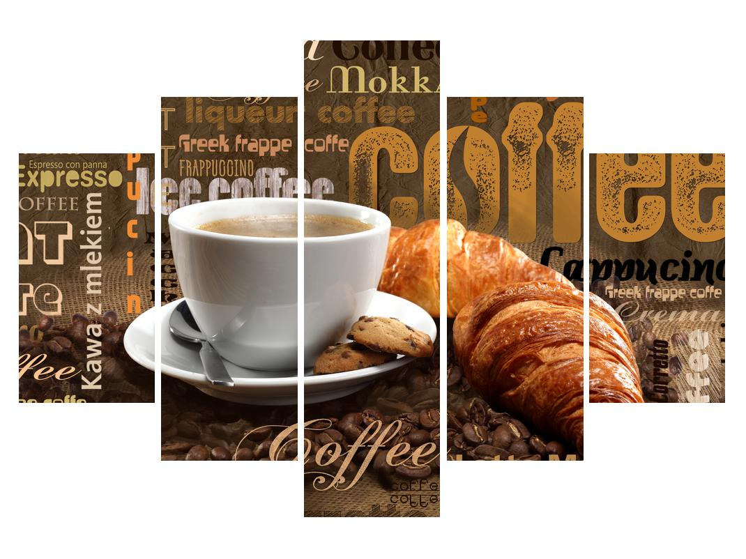 Slika šalice kave i kroasana (K014704K150105)