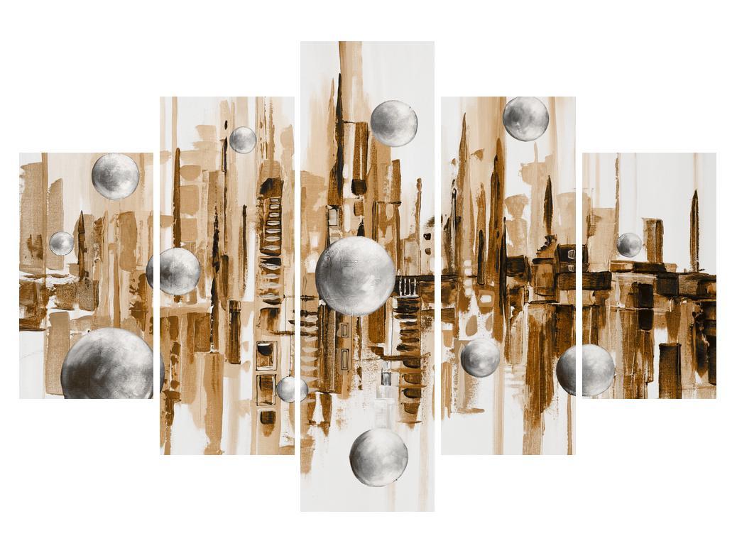 Abstraktní obraz - město (K014743K150105)