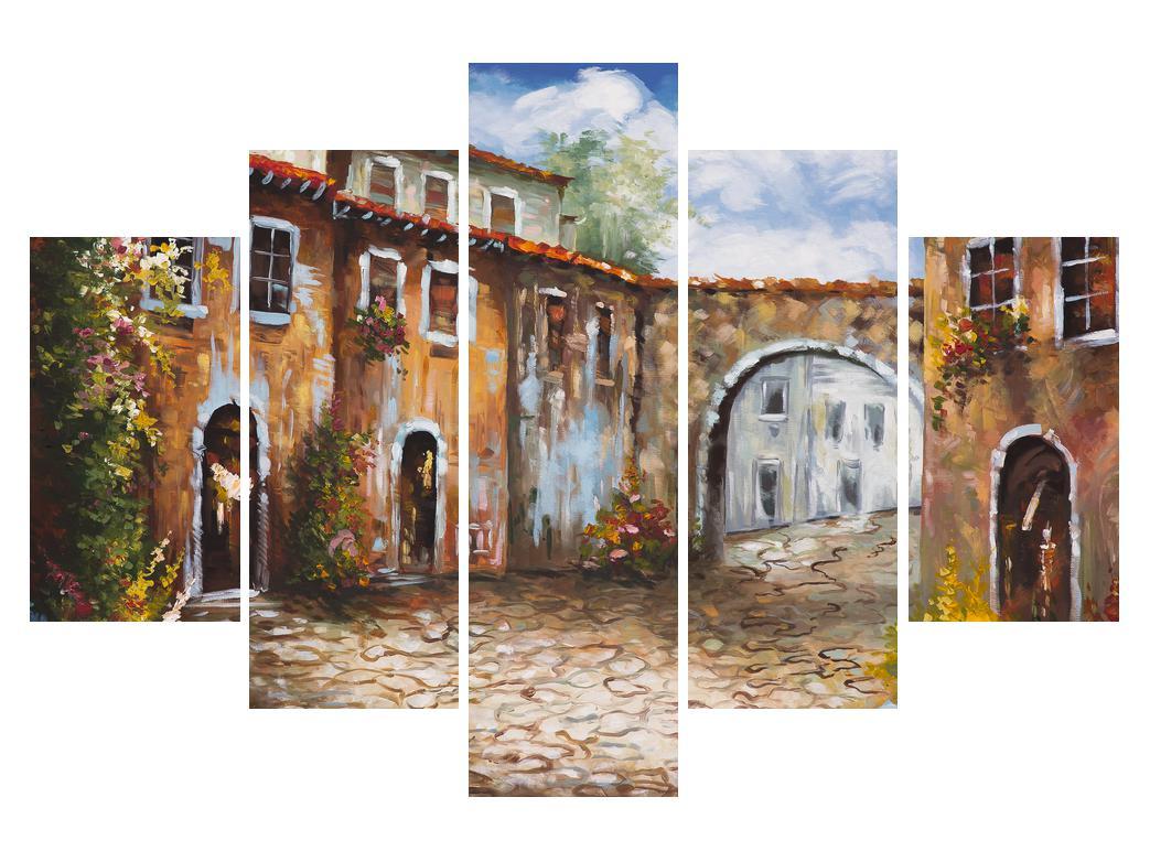 Obraz malované středomořské uličky (K014855K150105)