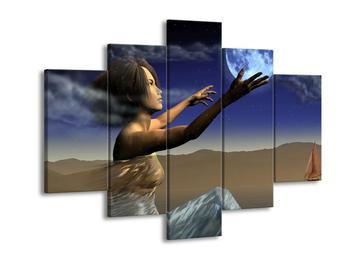 Obraz ženy dotýkající se měsíce (F000082F150105)