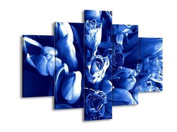 Modrý obraz květin (F000188F150105)