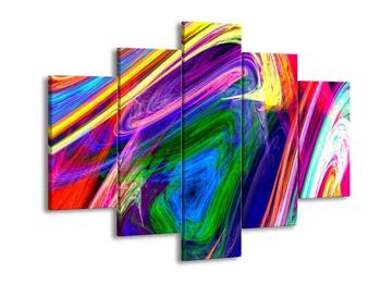 Abstraktní barevný obraz (F000319F150105)