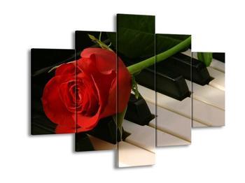 Obraz klavíru a růže (F000382F150105)
