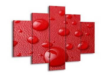 Červený obraz kapek (F000421F150105)