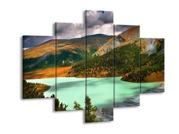 Obraz hory a jezera (F000549F150105)