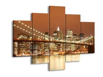 Obraz nočního města - Manhattan (F000567F150105)