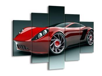 Obraz červeného auta (F000682F150105)