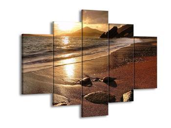 Obraz západu slunce nad mořem (F000701F150105)