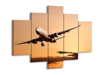 Obraz letadla na obloze (F000710F150105)
