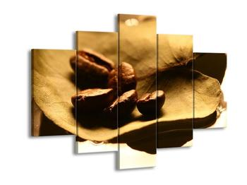 Obraz zrnek kávy na listu (F000745F150105)