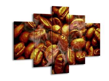 Obraz zlatavých zrnek kávy (F000746F150105)