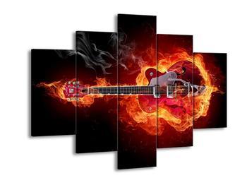Obraz ohnivé kytary (F000796F150105)
