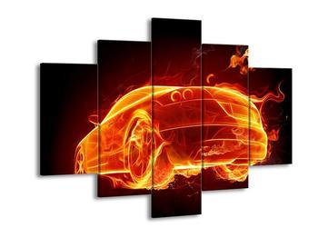 Obraz ohnivého auta (F000798F150105)
