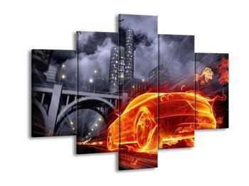 Obraz auta ve městě (F000799F150105)