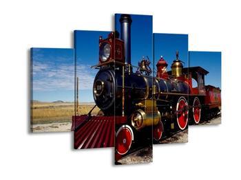 Obraz parní lokomotivy (F000924F150105)