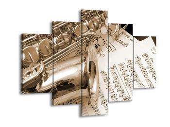Obraz noty a saxofon (F000962F150105)