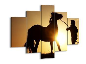 Obraz siluety koně (F001061F150105)