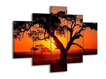 Obraz ohnivého západu slunce (F001288F150105)