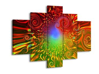 Abstraktní obraz - barevných víru (F001462F150105)