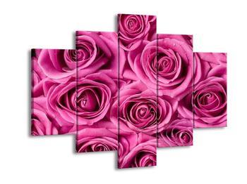 Obraz růžových květů růží (F001540F150105)