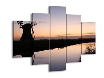 Obraz rybníku u mlýna (F001556F150105)