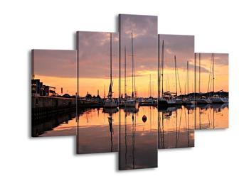 Obraz přístavu (F001605F150105)