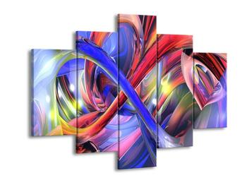 Abstraktní obraz - duhy (F001608F150105)