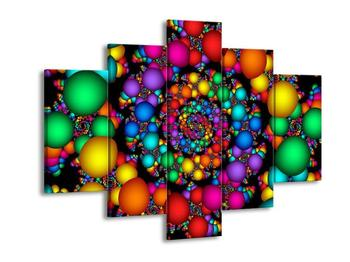 Abstraktní obraz - barevné koule (F001633F150105)