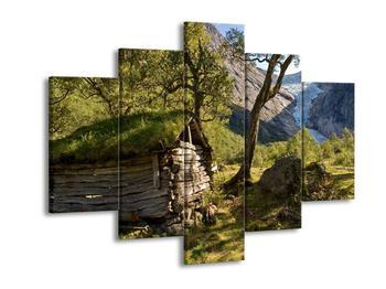 Obraz horské chatrče (F001636F150105)