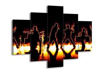Obraz rockové kapely (F001664F150105)