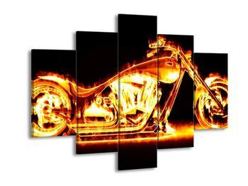Obraz ohnivé motorky (F001678F150105)