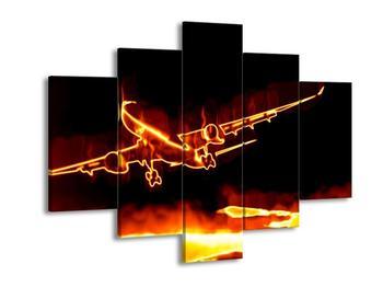 Obraz ohnivého letadla (F001679F150105)