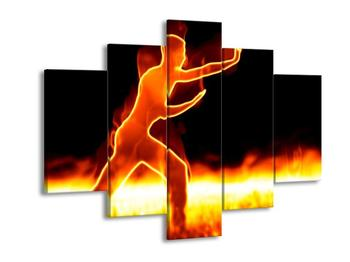 Obraz ohnivé postavy (F001681F150105)