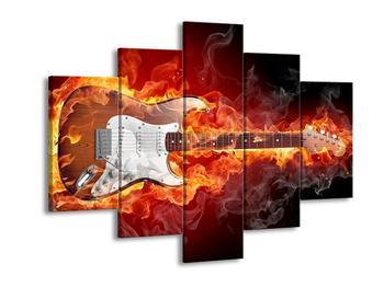 Obraz ohnivé kytary (F001685F150105)