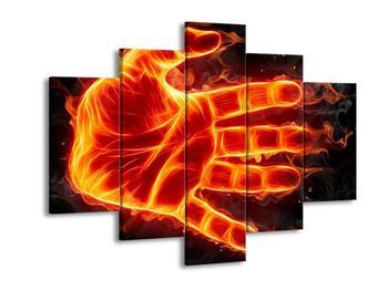 Obraz ohnivé dlaně (F001687F150105)