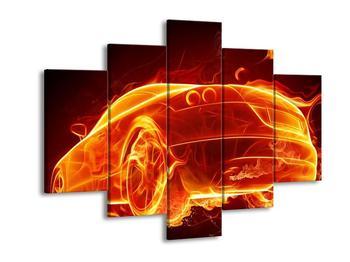 Obraz ohnivého auta (F001689F150105)