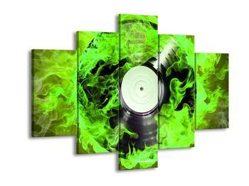 Obraz gramofonové desky v dýmu (F001727F150105)