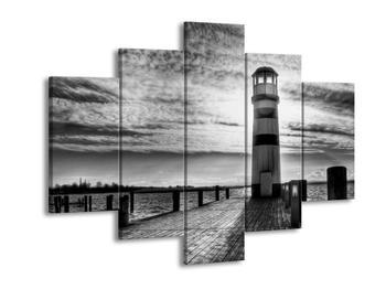 Černobílý obraz majáku (F001737F150105)