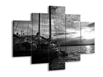 Černobílý obraz plachetnice (F001739F150105)