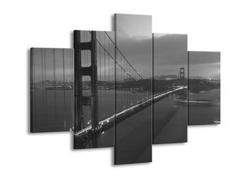 Černobílý obraz Golden Gate  (F001755F150105)