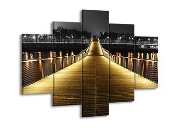 Obraz žlutě nasvíceného mostu (F001848F150105)