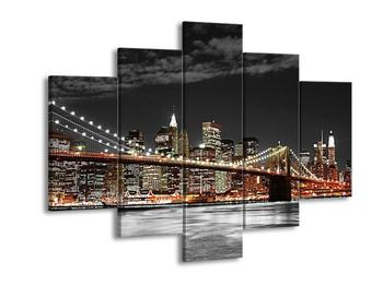 Obraz oranžového New Yorku (F001855F150105)