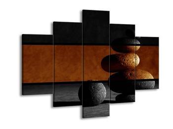 Dvroubarevný obraz kamínků (F001955F150105)
