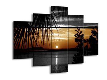 Dvoubarevný obraz západu slunce (F001983F150105)